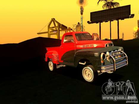 Ford Pick Up Custom 1951 LowRider for GTA San Andreas inner view