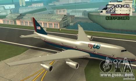 Aircraft from GTA 4 Boeing 747 for GTA San Andreas back view