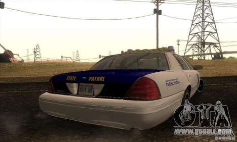 Ford Crown Alabama Police for GTA San Andreas left view