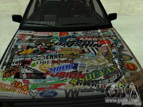 Volkswagen Golf 2 Rat Style for GTA San Andreas left view