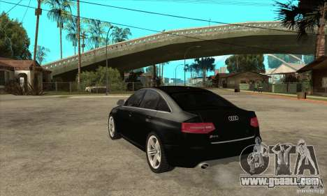 Audi RS6 2010 for GTA San Andreas back left view