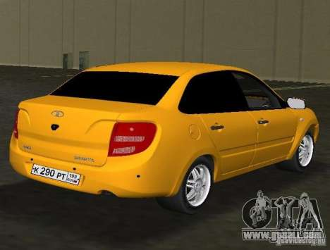 Lada Granta v2.0 for GTA Vice City right view