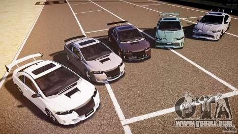 Honda Civic Si Tuning for GTA 4 upper view