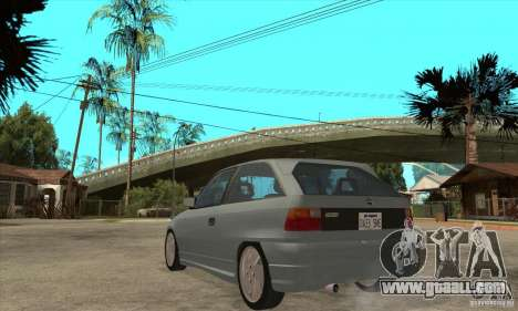 Opel Astra GSI 1993 Stock for GTA San Andreas back left view
