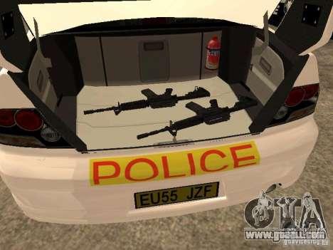 Mitsubishi Lancer EVO 8 Uk Policecar for GTA San Andreas back view