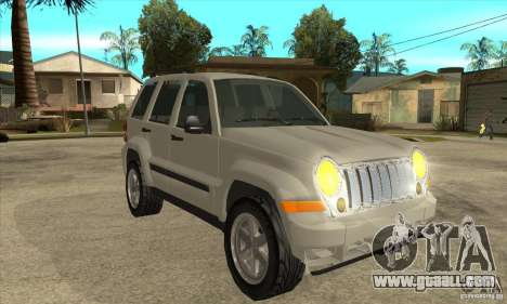 Jeep Liberty 2007 Final for GTA San Andreas back view