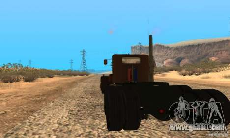 Duel Peterbilt for GTA San Andreas left view