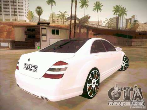 Mercedes-Benz S 500 Brabus Tuning for GTA San Andreas side view