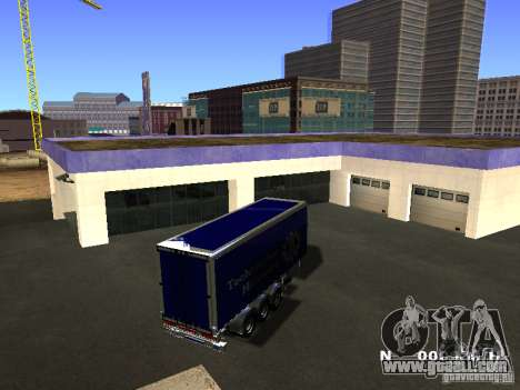 Trailer for Iveco Stralis for GTA San Andreas left view
