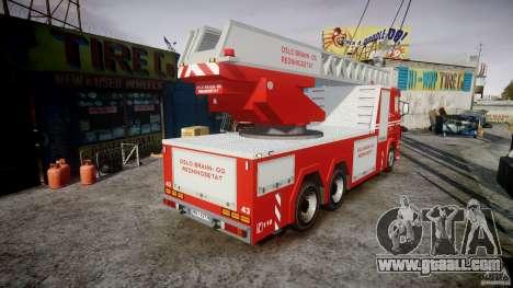 Scania Fire Ladder v1.1 Emerglights red [ELS] for GTA 4 inner view