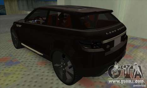 Land Rover LRX for GTA San Andreas right view