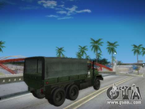 AM General M35A2 for GTA San Andreas inner view