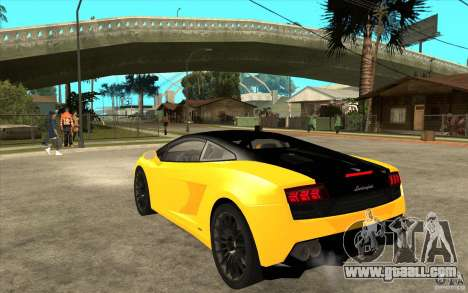Lamborghini Gallardo LP560 Bicolore for GTA San Andreas back left view