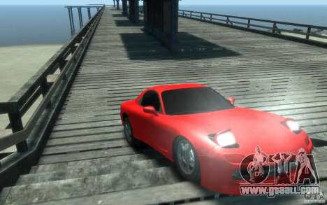 Mazda RX-7 v1 for GTA 4 back view