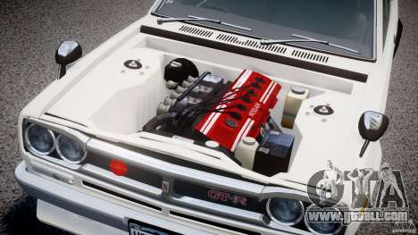 Nissan Skyline 2000 GT-R for GTA 4 inner view