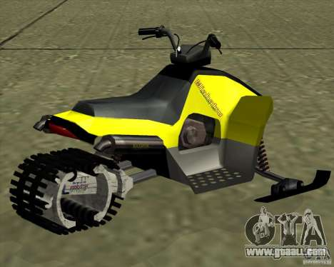 Snowmobile for GTA San Andreas left view