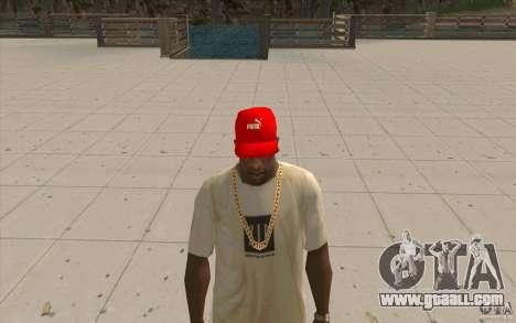 Puma Cap bright red for GTA San Andreas second screenshot