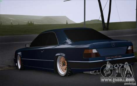 Mercedes-Benz W124 Low Gangster for GTA San Andreas left view