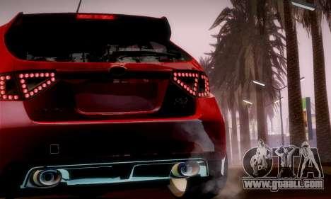 Subaru Impreza WRX Camber for GTA San Andreas side view