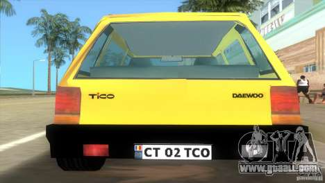 Daewoo Tico for GTA Vice City left view