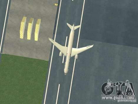 Airbus A350-900 Singapore Airlines for GTA San Andreas inner view