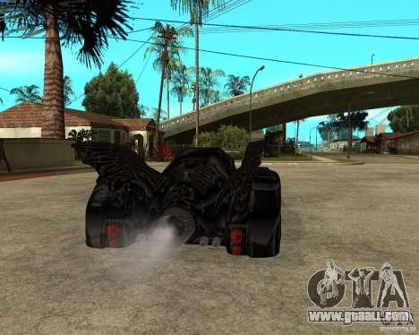 Batmobile for GTA San Andreas back left view