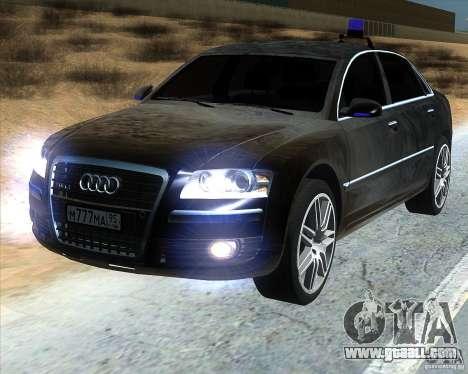 Audi A8L W12 for GTA San Andreas
