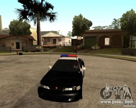Honda Integra 1996 SA POLICE for GTA San Andreas inner view