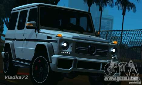 Mercedes-Benz G65 AMG 2013 for GTA San Andreas upper view