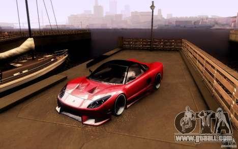 Honda NSX VielSide Cincity Edition for GTA San Andreas left view