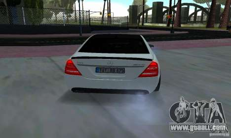 Mercedes-Benz S65 AMG Edition for GTA San Andreas back view
