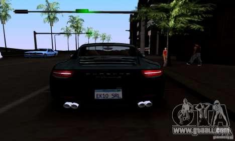 Porsche 911 Carrera S for GTA San Andreas bottom view