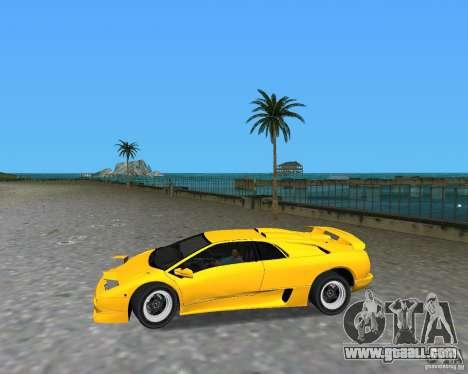 Lamborghini Diablo SV for GTA Vice City right view