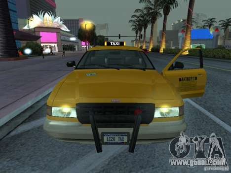 A taxi from Gta IV for GTA San Andreas back left view