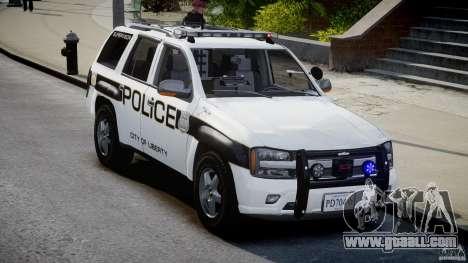 Chevrolet Trailblazer Police V1.5PD [ELS] for GTA 4 back view