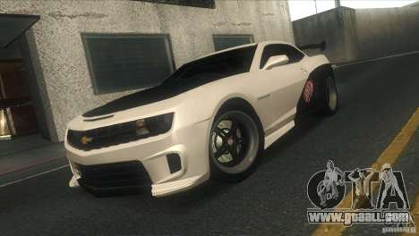 Chevrolet Camaro SS Dr Pepper Edition for GTA San Andreas bottom view