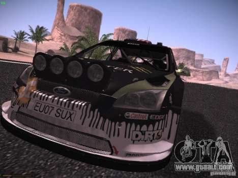 Ford Focus RS Monster Energy for GTA San Andreas