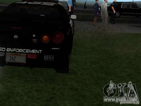Nissan Skyline R34 Police for GTA San Andreas right view