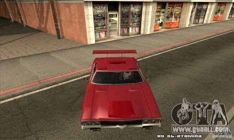 Sabre Drift for GTA San Andreas inner view