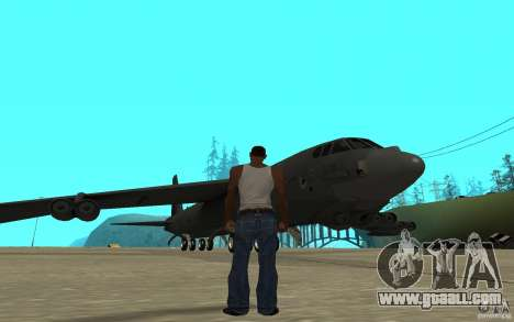 Boeing B-52 Stratofortress for GTA San Andreas back left view
