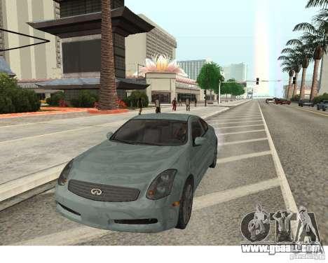 Infiniti G35 Coupe for GTA San Andreas