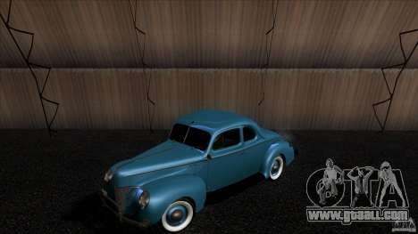 Ford Deluxe Coupe 1940 for GTA San Andreas back view
