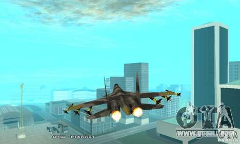 Su-37 Terminator for GTA San Andreas inner view