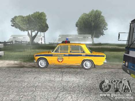 VAZ TRAFFIC POLICE 21016 for GTA San Andreas back left view