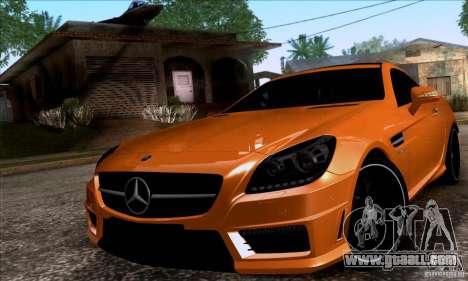 Mercedes Benz SLK55 R172 AMG for GTA San Andreas back left view