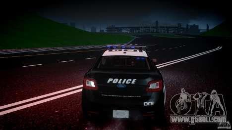 Ford Taurus Police Interceptor 2011 [ELS] for GTA 4 interior