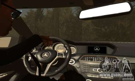 Mercedes-Benz C63 AMG for GTA San Andreas wheels