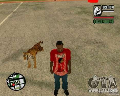 Tiger in GTA San Andreas for GTA San Andreas forth screenshot