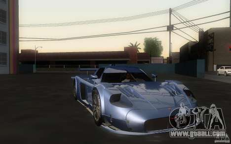 Maserati MC12 GT1 for GTA San Andreas back left view