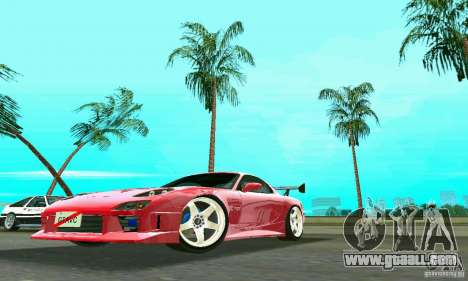 Mazda RX7 Charge-Speed for GTA Vice City back left view